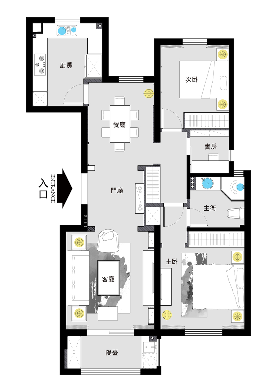 金瀚园-设计平面图